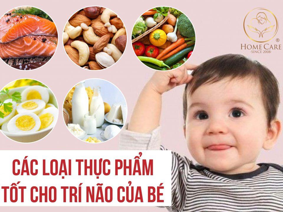 Thực phẩm tốt cho trí não của bé
