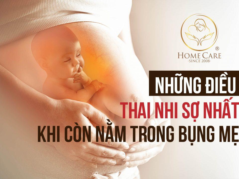 Những điều thai nhi sợ nhất khi còn nằm trong bụng mẹ